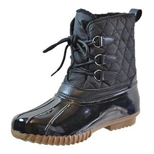 Black Sporto Genuine Duck Boots